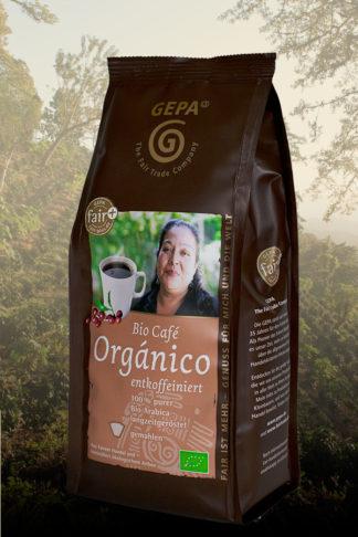 Bio Café Orgánico entkoffeiniert, gemahlen 250g-0