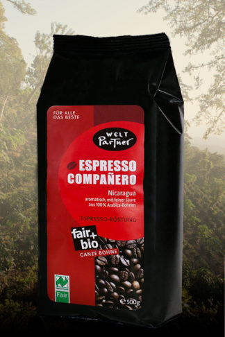 Café Companero, Nikaragua, 500g, Espresso BOHNE, bio-0